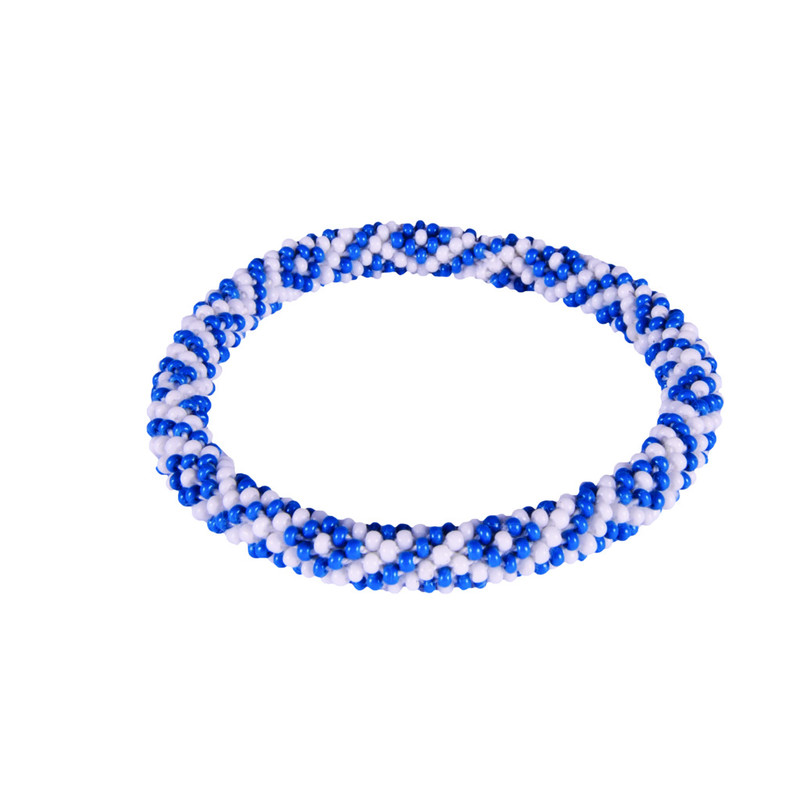 Two Colour Roll on Bracelet - Blue Tara