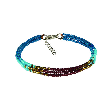 Sherpa Adventure Gear Mayalu 3 Wire Bracelet in Blue Tara