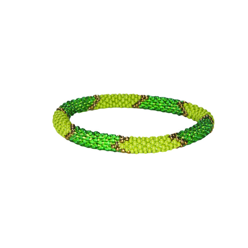 Mayalu Ikat Roll on Bracelet - Gokarna Green