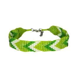 Sherpa Adventure Gear Mayalu Chevron Bracelet in Gokarna Green