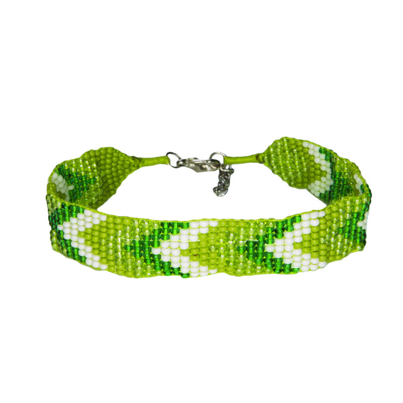 Mayalu Chevron Bracelet - Gokarna Green