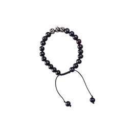 Sherpa Adventure Gear Mala Three Stone Bracelet in Black