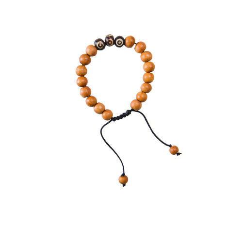 Sherpa Adventure Gear Mala Three Stone Bracelet in Tan