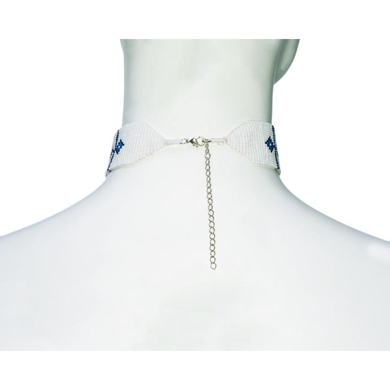 Mayalu Endless Knot Choker - Blue Tara