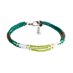 Mayalu 3 Wire Bracelet Gokarna Green