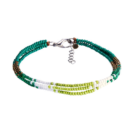 Sherpa Adventure Gear Mayalu 3 Wire Bracelet in Gokarna Green