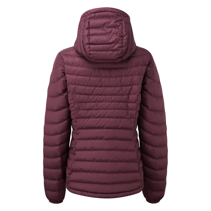 Womens Nangpala Hooded Down Jacket in Red | Sherpa ...